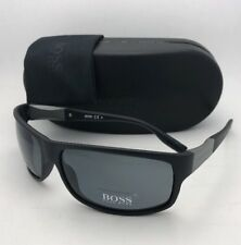 New HUGO BOSS Sunglasses 0541/P/S AMD AH Black Frame w/ Grey Polarized Lenses