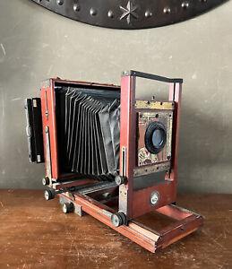 ANTIQUE CENTURY CAMERA NO 2 5x7 Pat. 1902 Eastman Wollensak Velostigmat Lens