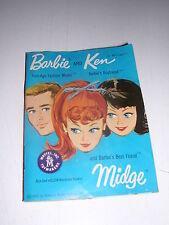 Barbie and Ken and Barbie's Best Friend Midge Booklet 1962 Blue