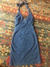 Vintage Guess Denim Halter Mini Dress Size Small