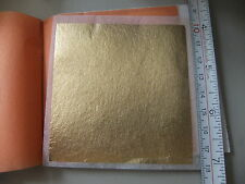 GOLD LEAF sheets 78x78mm 24.75 carat transfer 25 sheet booklets