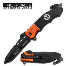 """8.5"""" TAC FORCE EMT RESCUE SPRING ASSISTED POCKET KNIFE Blade Assist Open Switch"""