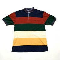 Tommy Hilfiger Button Up Shirt, Mens Size Large, Colorblock 90s Retro Collared
