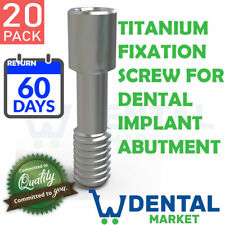 X 20 Titanium Fixation Screw for Dental Implant Abutment