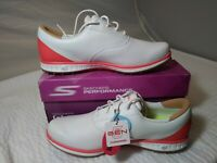 Skechers Women's Go Golf LDS Shoes 14866 'White Hot Coral' Free Shipping On Sale