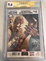 AMAZING SPIDER-MAN #4 CGC 9.6 Signature Series SS signed X3 Stan Lee ++ 1st Silk