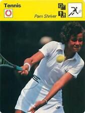 FICHE CARD: Pamela « Pam » Shriver épouse Shapiro puis Lazenby USA TENNIS 1970s
