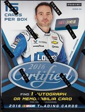 2016 Panini Certified Racing Blaster Box unopened 3 packs of 5 NASCAR cards