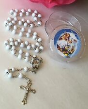 24-New Baptism Party Favors Rosaries Cross Scented White Recuerdos De Bautizo