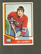 1974 - 75 Topps Hockey Set GUY LAPOINTE Card