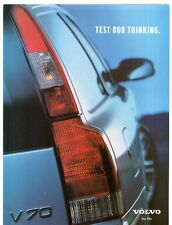 Volvo V70 Prize Draw & Info Request Form Early 2001 UK Market Foldout Brochure