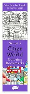 Re-marks Cities of the World 5 Coloring Bookmarks