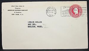 American Express Company US Postal Stationery Adv Envelope Ny GS USA Brief Y-473