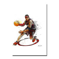Allen Iverson Basketball Classic Silk Fabric Poster Canvas Art Print 24x36 inch