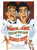 MOVIE FILM SCARED STIFF DEAN MARTIN JERRY LEWIS COMEDY POSTER ART PRINT LV10165