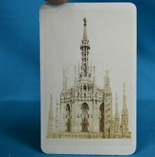 1870s Italian CDV 1918 Il Duomo Milano Carte De Visite Georges Sommer Naples NR