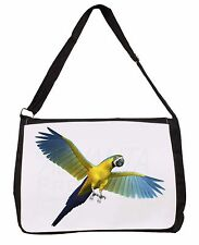 In-Flight Flying Parrot Large Black Laptop Shoulder Bag School/College, AB-PA9SB