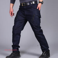 Men Jeans Tactical Combat Cargo Pant Hiking Military Multi-Pocket Denim Trousers