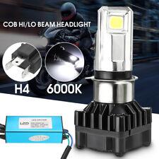 35W H4 H6 BA20D LED Motorcycle Headlight Bulb COB Hi/Lo Beam Head Lamp 6000K