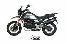SCARICO MIVV SPEED EDGE BLACK PER MOTO GUZZI V85 TT 2019 > INOX NERO SLIP-ON