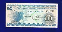 Rwanda Burundi 100 Francs 1960  PIC5 Fine