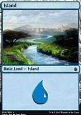 Island (296) NM Commander Anthology Basic Land Common MTG
