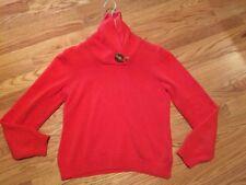 Women's Ralph Lauren Orange Sweater Medium Pre-Owned Women Neck