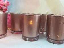 Votive Candle Holders Rose Gold Mercury Glass Party / Weddings  /  12 per