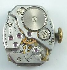 Vintage Waltham 678 Mechanical Wristwatch Movement -  Parts / Repair