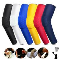 Elbow Protection Sleeve Arm Compression Support Pad Hex Elastic Basketball Sport