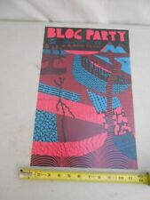 "Rare July 29 2008 Bloc Party "" Cole Gerst "" Concert Poster Does It Offend You"