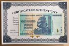 AUTHENTIC 100 TRILLION ZIM BOND DOLLAR 2008 ZIMBABWE 2008 AA UNC - FAST SHIP COA