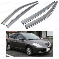 Window Visor Vent Shade Rain/Sun/Wind Guard for Nissan Tiida / Versa 2007-2010