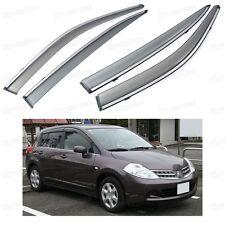 Window Visor Vent Shade Rain/Sun/Wind Guard for Nissan Tiida / Versa 2007-2010