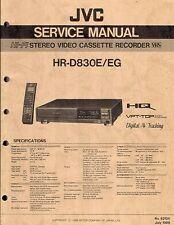 JVC ORIGINALE Service Manual per HR-D 830 E/CE