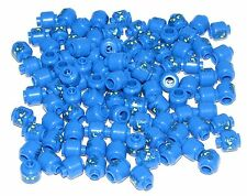 LEGO LOT OF 100 NEW BLUE JAY NRG MINIFIGURE HEADS MONSTER ALIEN PARTS