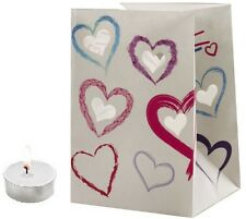 "CANDLE BAGS ""HEART SHAPES"" - 5 Pack"