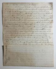 Phineas Talcott Last Will & Testament c. 1831, Vernon CT Historical Document