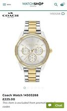 Coach Preston Chronograph Two Tone Silver And Gold 14503268 Watch £85 Off