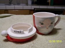 Vintage Santa Design Coffee Cup And Ashtray Lid-Old