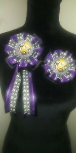 Purple Nightmare Before Christmas Mommy and Daddy To-Be Corsages Baby Shower