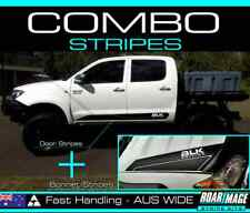 2006-2010 shape TOYOTA Hilux Bonnet & Door STRIPES decals stickers 4wd 4x4 combo