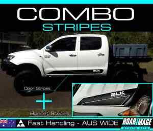 2006-2010 shape TOYOTA Hilux Bonnet & Door STRIPES decals stickers 4wd 4x4 combo