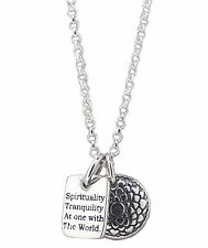 """AT ONE WITH THE WORLD Necklace 925 Sterling SILVER 16"""" Chain and Pendant"""