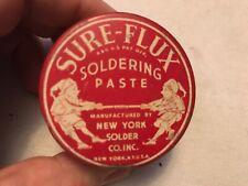 Sure - Flux Soldering Paste Vintage Tin, Great Elf Graphics