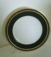 CHRISTIAN DIOR GAUDRON ONYX GOLD TRIM DINNER PLATE MINT ~ Unused!