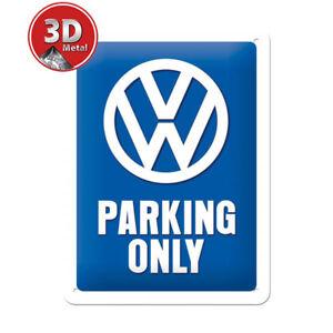 26169 Placa metálica 15x20 volkswagen parking only nostalgic art coolvintage