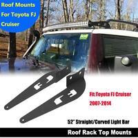 Roof Mounting Brackets For FJ CRUISER Toyota 2007-2014 52inch CREE Led Light Bar