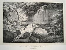 Wasserfall Beatenberg St. Beatus-Höhlen   Schweiz echte alte  Lithographie 1840