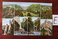 Postkarte Ansichtskarte Niedersachsen Lithografie Eingang ins Bodental Harz